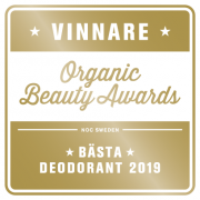 Organic Beauty Awards Logo 2019 Vinnare Naturlig Deo Grapefrukt
